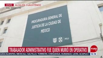 FOTO: PGJCDMX confirma muerte empleado durante operativo Morelos