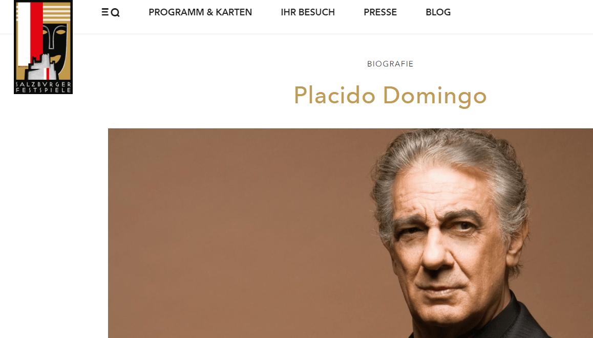 IMAGEN Plácido Domingo enfrenta acusaciones por acoso sexual, recibe respaldo del Festival de Salzburgo (https://www.salzburgerfestspiele.at)