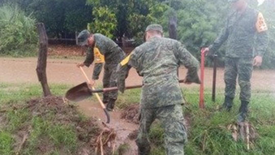 FOTO Soldados activan Plan DN II E en Sinaloa por lluvias (Sedena)