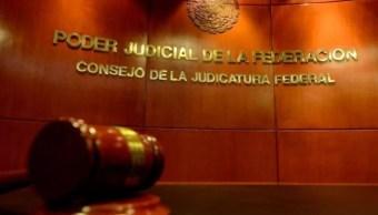 Fotografía que muestra una sala del Poder Judicial de la Federación, 22 agosto 2019