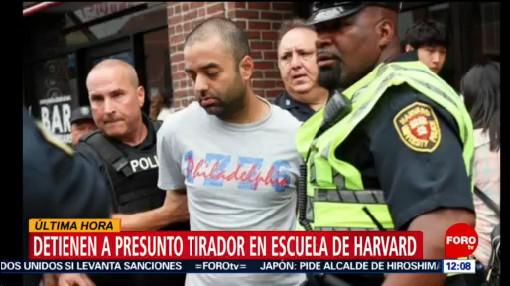 Policías arrestan a presunto tirador en Harvard