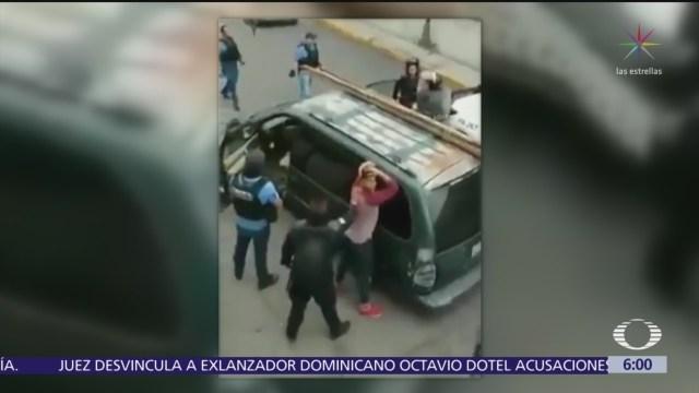 Policías detienen a presunto tianguista en Puebla