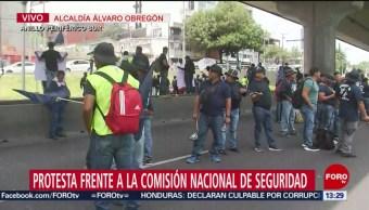 FOTO: Policías Federales Protestan Frente Comisión Nacional Seguridad