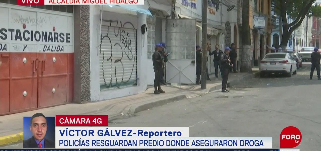 Foto: Policías Resguardan Bodega Droga Inmedicaciones Tacubaya 22 Agosto 2019