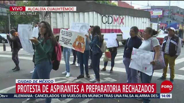 FOTO: Protesta Aspirantes Preparatoria Rechazados CDMX