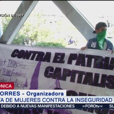 Protesta de mujeres en CDMX busca terminar con el machismo: organizadora
