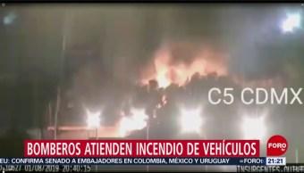 Foto: Queman Camionetas Chácharas' Gam CDMX 1 Agosto 2019