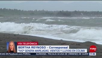 Foto: Reportan Intensa Lluvia Colima Ivo 23 Agosto 2019
