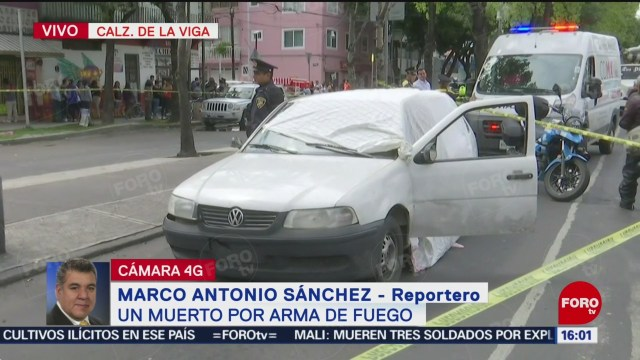 Foto: Reportan muerto arma fuego Calzada Viga CDMX