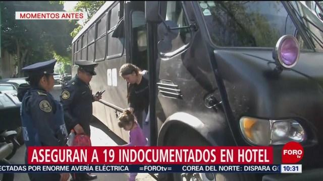 FOTO: Rescatan a 19 indocumentado en un hotel en la CDMX, 10 Agosto 2019