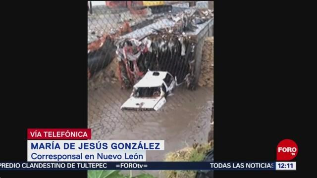 Retiran casi 40 toneladas de basura en alcantarillas de Monterrey tras lluvias