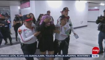 FOTO: Riña en el Metro deja varios heridos tras finalizar marcha de mujeres, 17 Agosto 2019