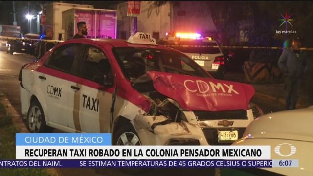 Robo de taxi causa persecución en CDMX