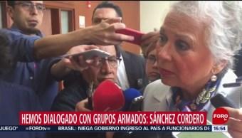 FOTO: Sánchez Cordero Confirma Diálogo Con Grupos Armados
