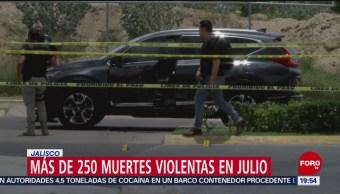 Foto: Muertes Violentas Julio Jalisco 2 Agosto 2019