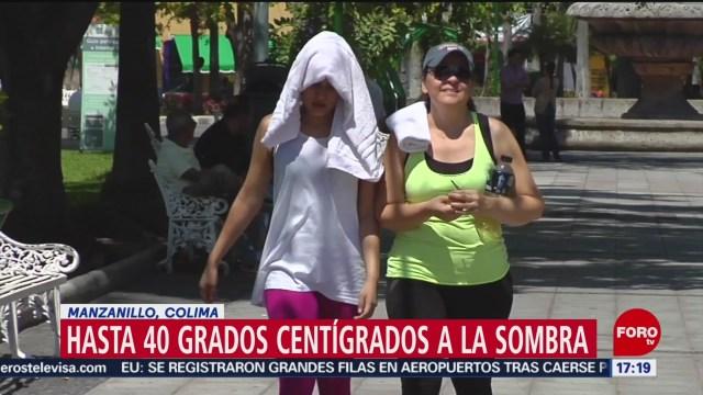 FOTO: Se registran temperaturas de hasta 40 grados en Manzanillo, 18 Agosto 2019