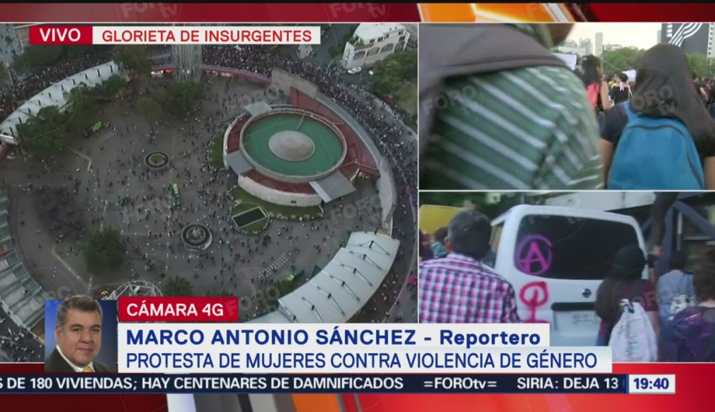 Foto: Video Vandalismo Protesta Mujeres Insurgentes CDMX Hoy 16 Agosto 2019