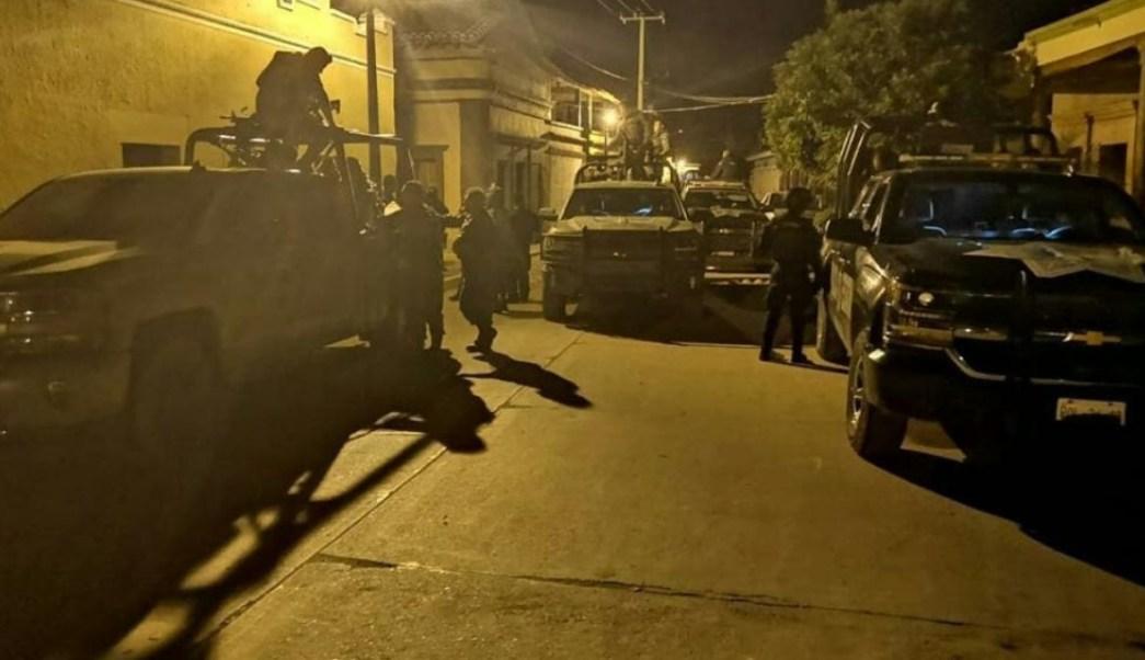 Operativo de seguridad en Sinaloa