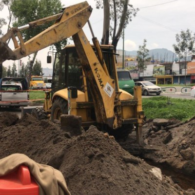 Transportistas bloquean Ermita y logran que CDMX repare socavón