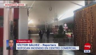 Sofocan incendio en centro comercial Plaza Tepeyac, en la CDMX