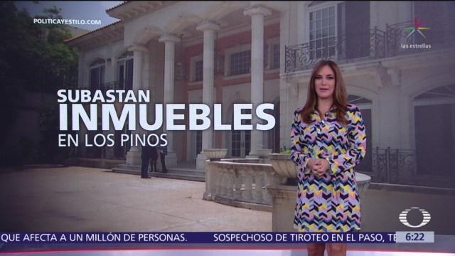 Subastan 25 inmuebles en Los Pinos