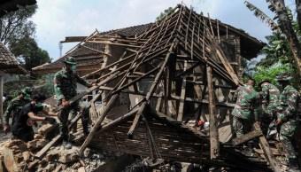 Foto: El sismo causó daños estructurales en más de 200 edificios y el municipio de Pandeglang fue el más afectado, el 3 de agosto de 2019 (EFE)