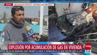 FOTO: Testigo relata explosión en una vivienda en Neza que dejó 4 heridos, 18 Agosto 2019