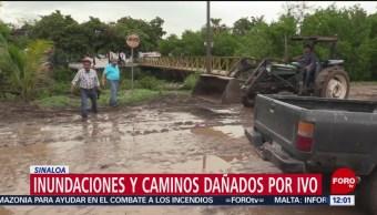 Tormenta 'Ivo' genera inundaciones en Sinaloa