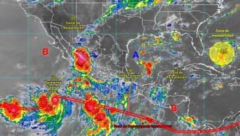 Foto: Imagen satelital de la tormenta Ivo, 22 de agosto de 2019, Sinaloa