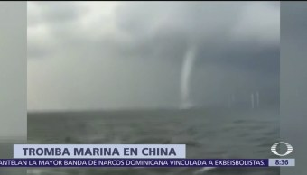 Tromba marina es captada en video, en China