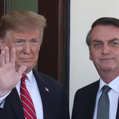 Trump expresa 'apoyo total' a Bolsonaro por incendios en Amazonas