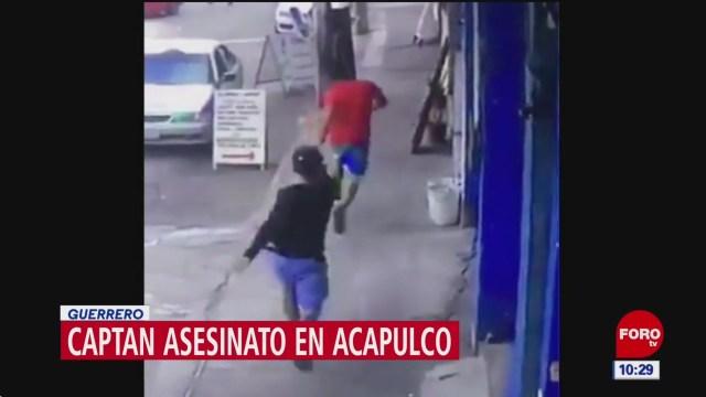 Video capta ejecución en calles de Acapulco, Guerrero