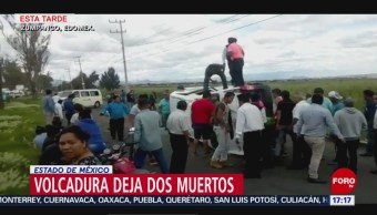 FOTO: Volcadura Transporte Público Deja 2 Personas Muertas Zumpango Edomex