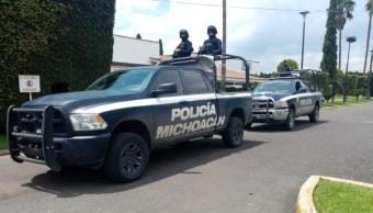 Fotos: Esta mañana fueron asesinados dos hombres; uno en el municipio de Coeneo y otro en Tepalcatepec, 1 de septiembre de 2019 (Twitter @MICHOACANSSP)