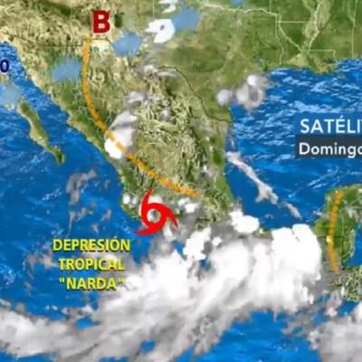 'Narda' deja afectaciones en Acapulco, Guerrero