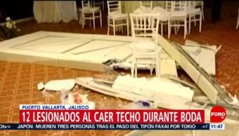 Al menos 12 lesionados al caer techo durante boda en Jalisco