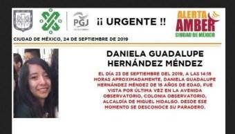 Alerta Amber por Daniela Guadalupe Hernández