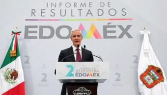 Foto: El mandatario mexiquense destacó que la política social de la entidad logró que 683 mil personas salieran de la pobreza, 24 de septiembre de 2019 (Twitter @alfredodelmazo)