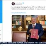 FOTO: AMLO comparte liga para revisar Informe de Gobierno, 1 septiembre 2019