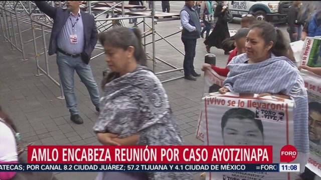 AMLO encabeza reunión, en calidad de testigo, por caso Ayotzinapa
