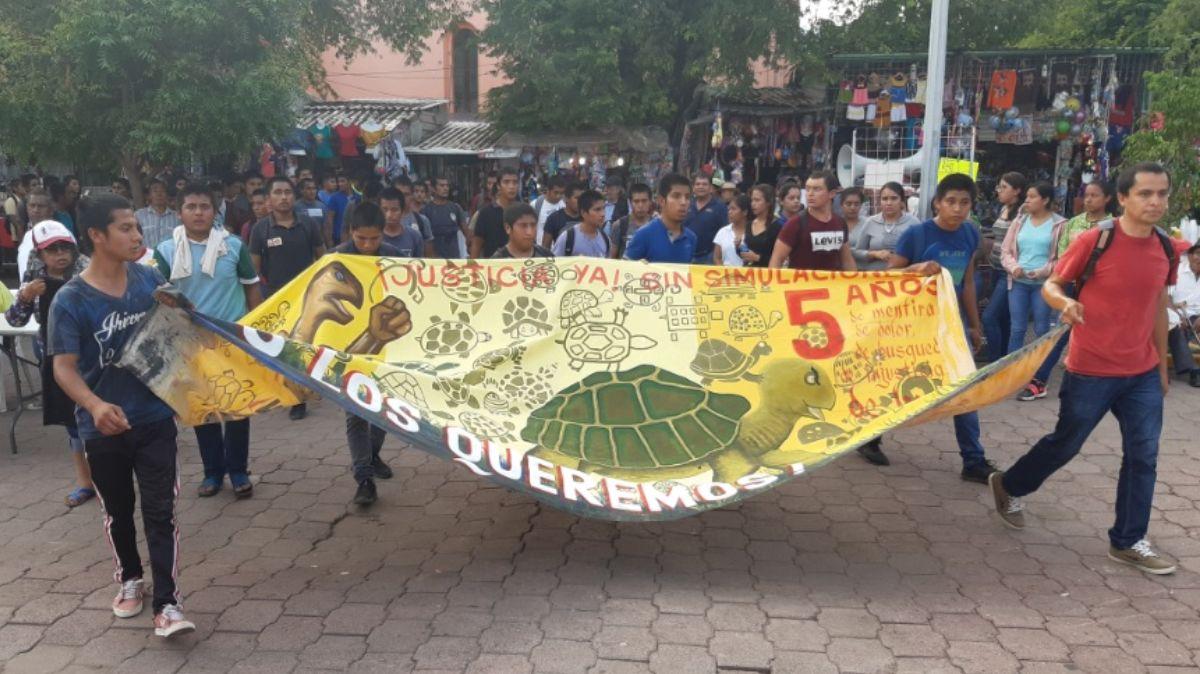 Marcha por el caso Ayotzinapa