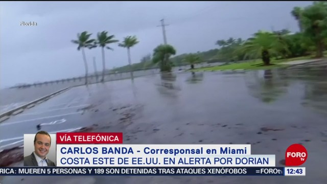 """Anuncian cierre del aeropuerto de Orlando por avance del huracán """"Dorian"""""""