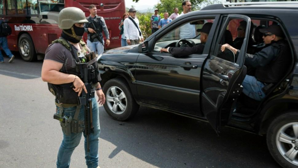 Foto: Elementos de las Fuerzas de Acciones Especiales de Maduro, 18 de septiembre de 2019 (AP, archivo)