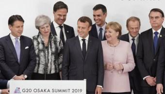 Foto: Líderes mundiales en la pasada reunión del G20 en Osaka, Japón, 1 de septiembre de 2019 (AP,archivo)