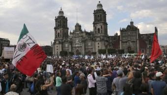 mitin zocalo cdmx marcha ayotzinapa