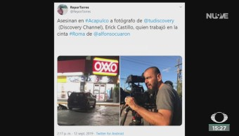 FOTO: Asesinan fotógrafo Discovery Channel Acapulco