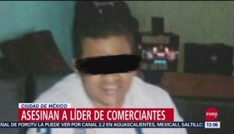 Asesinan a líder de comerciantes en la CDMX