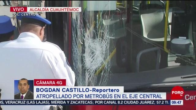 FOTO: Atropellado por Metrobús en Eje Central, 8 septiembre 2019