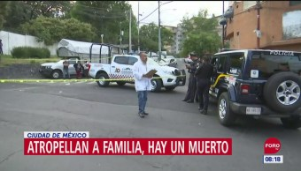 FOTO: Atropellan a familia en calles de Álvaro Obregón, CDMX, 16 septiembre 2019