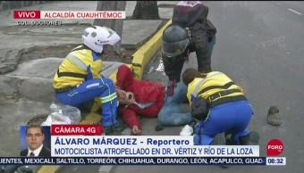 FOTO: Atropellan a motociclista en la colonia Doctores, CDMX, 14 septiembre 2019